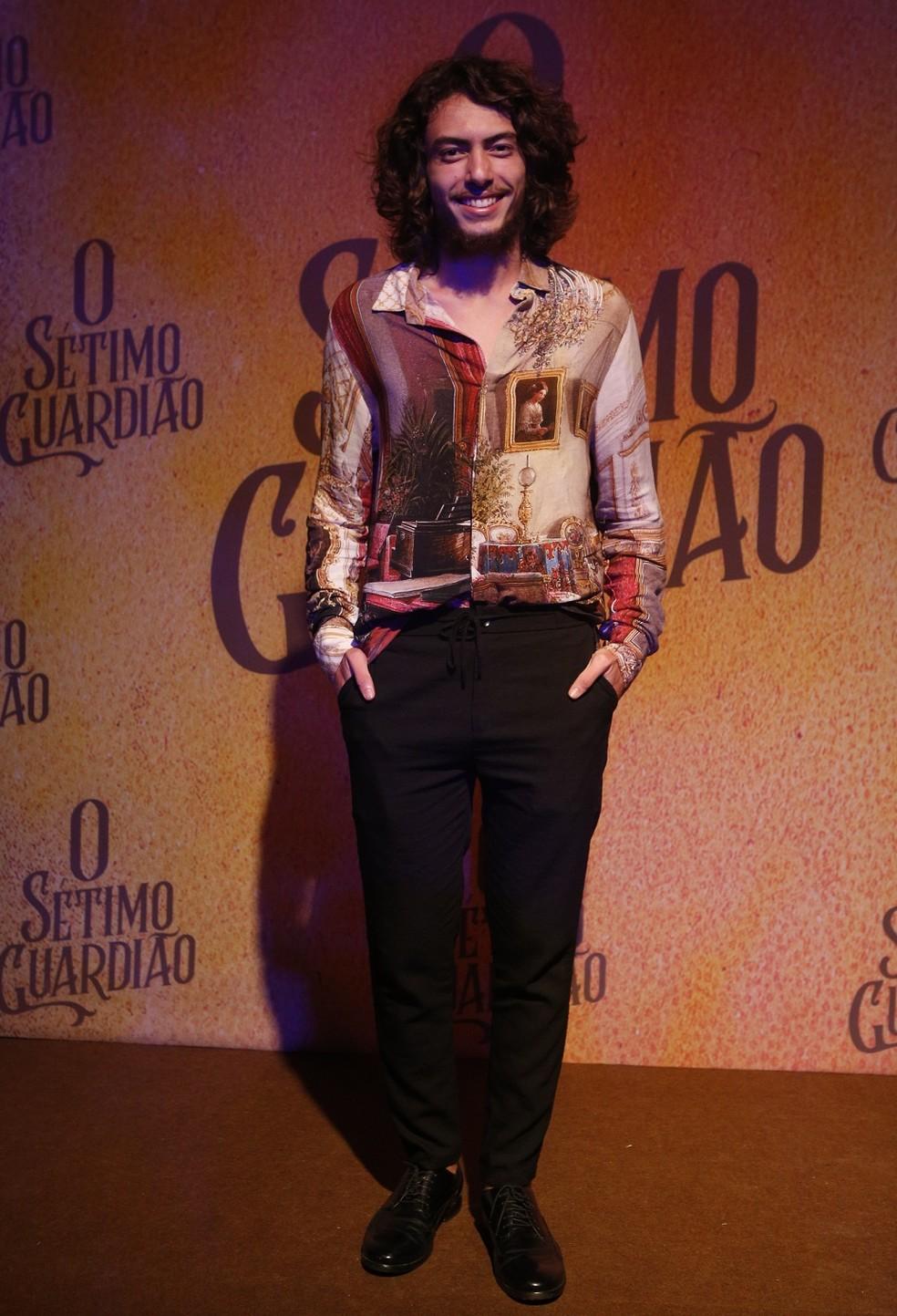 Jaffar Bambirra será Leonardo em 'O Sétimo Guardião' — Foto: Fabiano Battaglin/Gshoiw