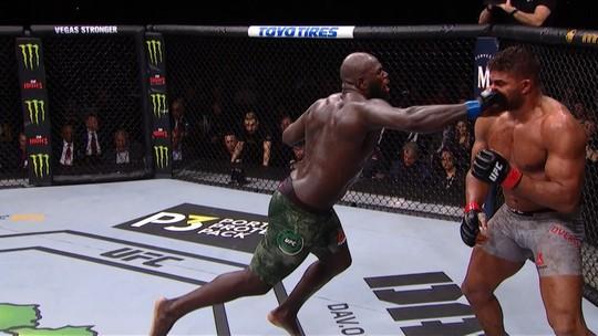 Vídeos: UFC Washington tem astro com lábio dilacerado, finalização raríssima e golpe baixo