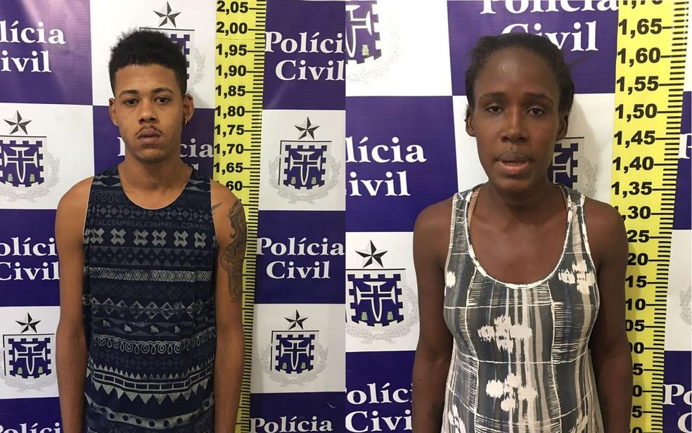 Mãe e pai de menina foram presos em Feira de Santana (Foto: Divulgação/ Polícia Civil)