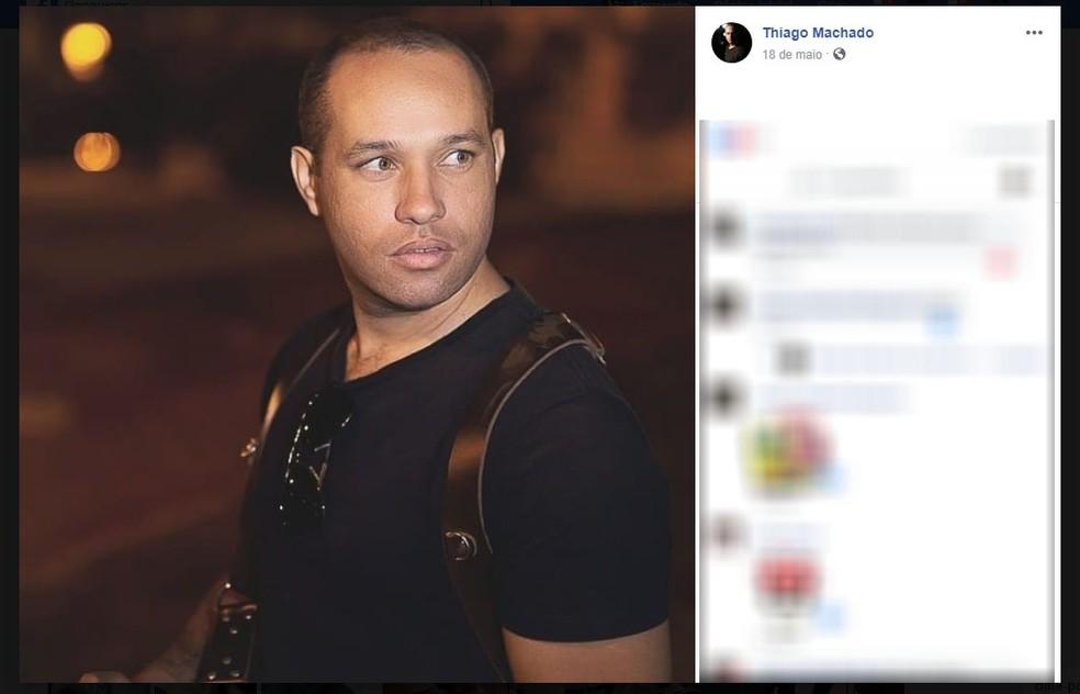 O soldado Thiago Machado foi morto a tiros por outro policial militar dentro de um batalhão em Campinas (SP) — Foto: Reprodução/Facebook