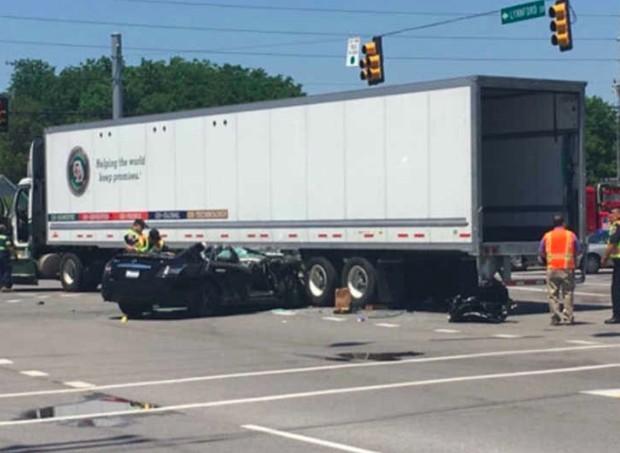 O acidente (Foto: Reprodução)