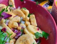 Petisco vegano: aprenda a preparar ceviche de banana-da-terra