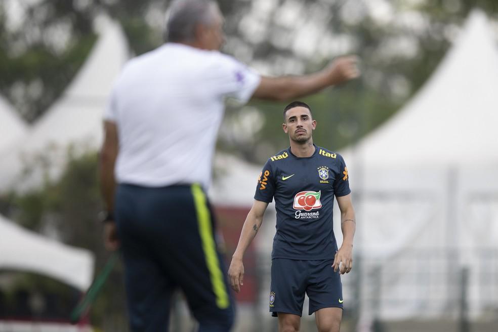Thiago Galhardo foi convocado por Tite para integrar grupo da Seleção — Foto: Lucas Figueiredo / CBF