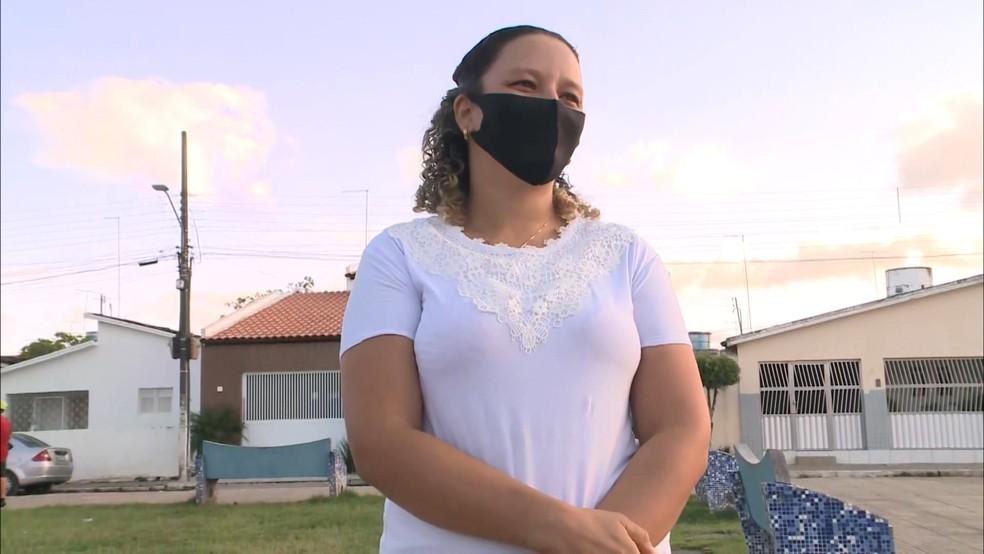 Daiane Silva teria mentido sobre a história da bolsa encontrada com dinheiro, na Paraíba — Foto: Reprodução/TV Cabo Branco