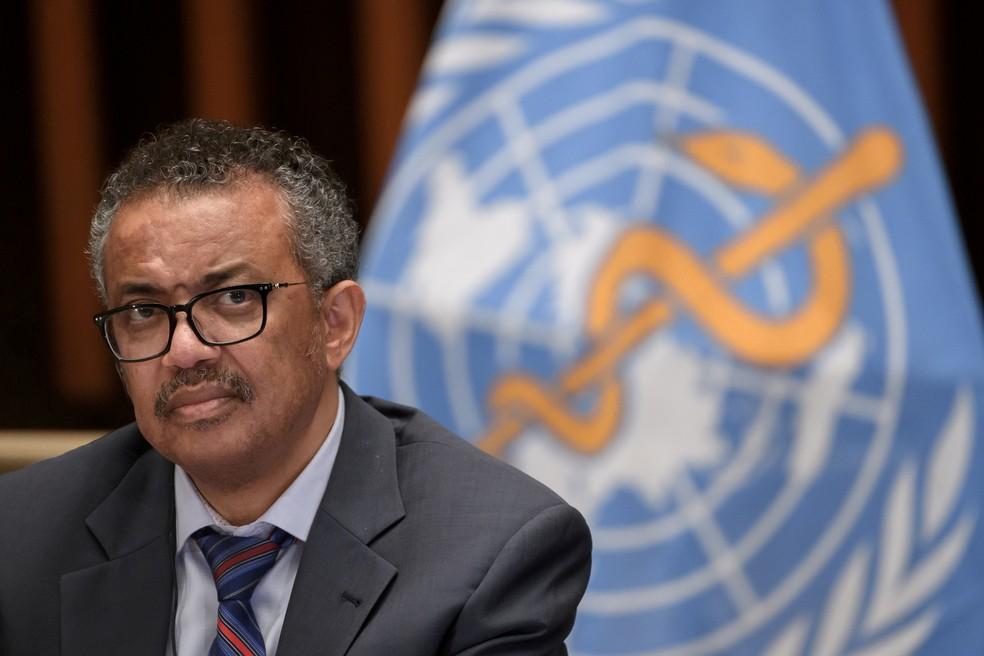 Tedros Adhanom Ghebreyesus, diretor-geral da OMS, em foto de 3 de julho de 2020 — Foto: Fabrice Coffrini/Pool via Reuters