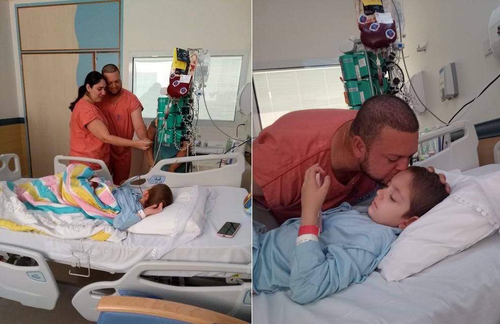 Alice fez o transplante em dezembro do ano passado em Barretos — Foto: Arquivo pessoal/Jéssica Lopes Sartorelli