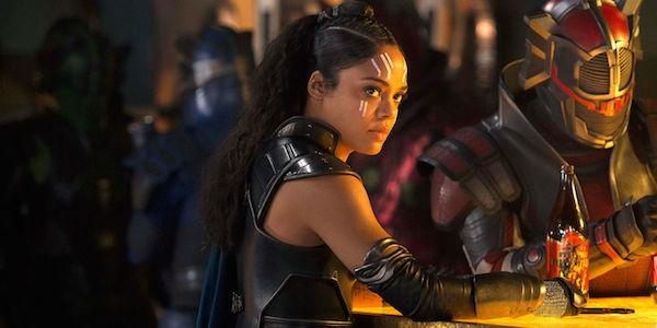 A atriz Tessa Thompson em cena de Thor: Ragnarok (2017) (Foto: Reprodução)