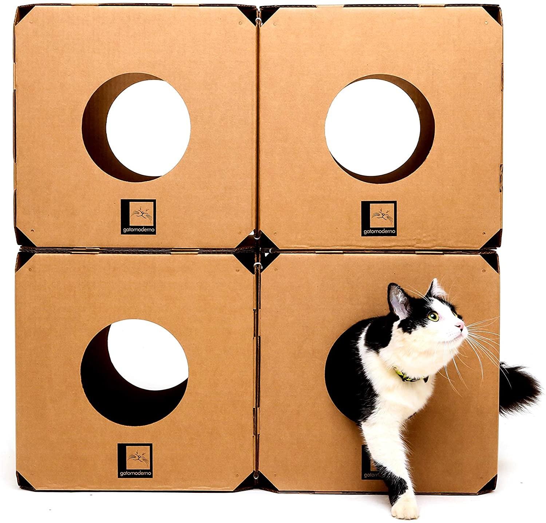 Labirinto 4 Cubos Gatomoderno para Gatos (Foto: Divulgação)