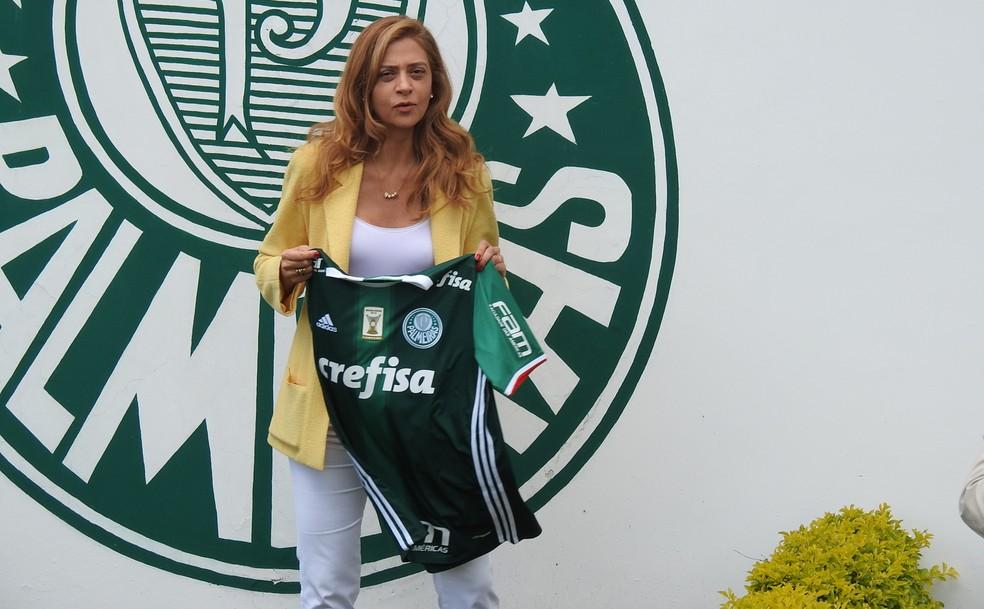 Leila Pereira investiu mais de R$ 100 milhões no Palmeiras (Foto: Tossiro Neto)