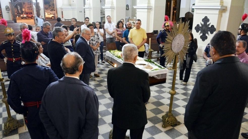 Velório de Dom José Maria Pires começou na madrugada desta terça-feira em João Pessoa (Foto: Eisenhower Almeida/Arquidiocese da Paraíba  )