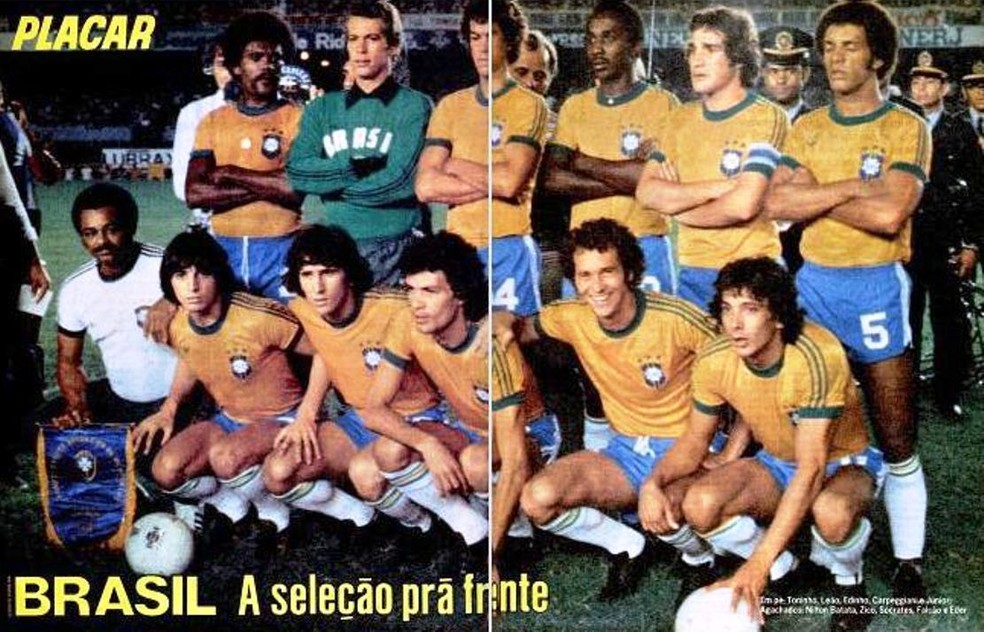 Seleção brasileira da Copa América de 1979 — Foto: Reprodução / Revista Placar