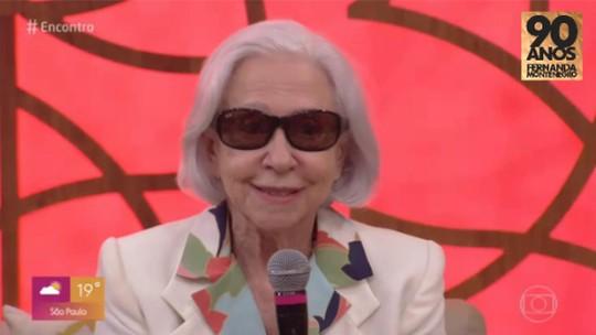 Fernanda Montenegro recebe homenagens e fala sobre os mais de 70 anos de carreira