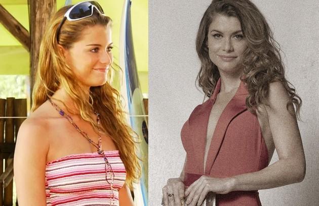 """O papel de Alinne Moraes foi a surfista Moa, por quem Thor (Cauã Reymond) se interessava. Os atores, que foram casados, voltarão a trabalhar juntos em """"Um lugar ao Sol"""" (Foto: Globo)"""