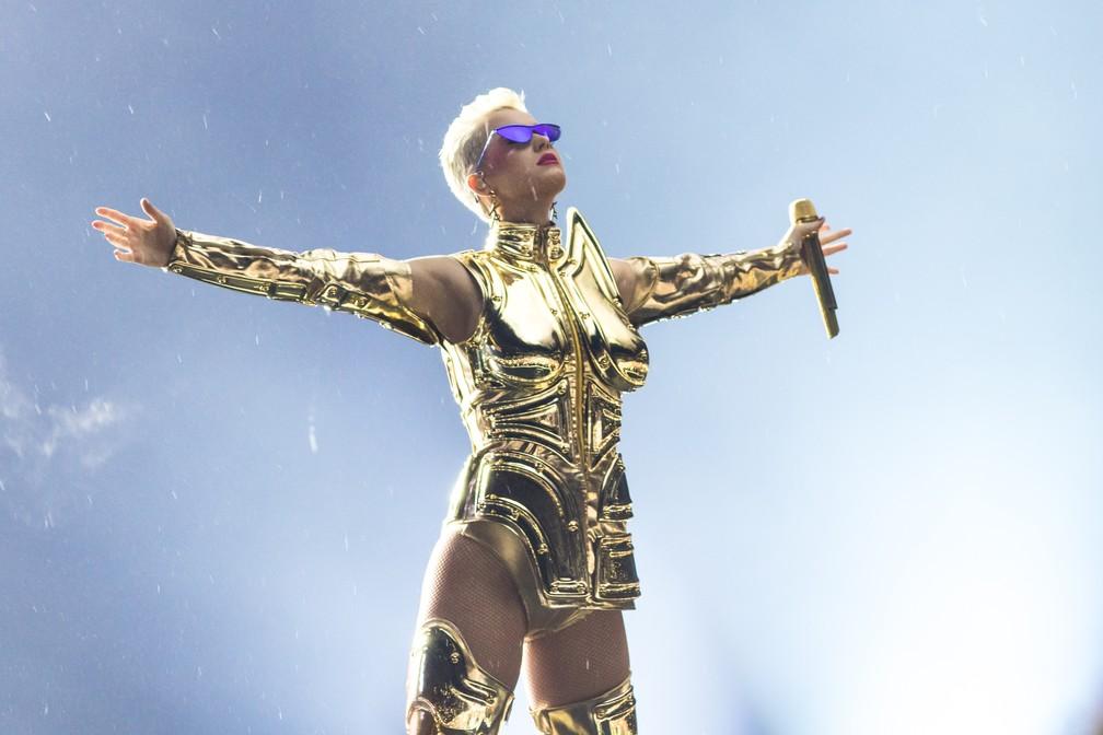 Katy Perry fez show em São Paulo em março de 2018 — Foto: Celso Tavares/G1