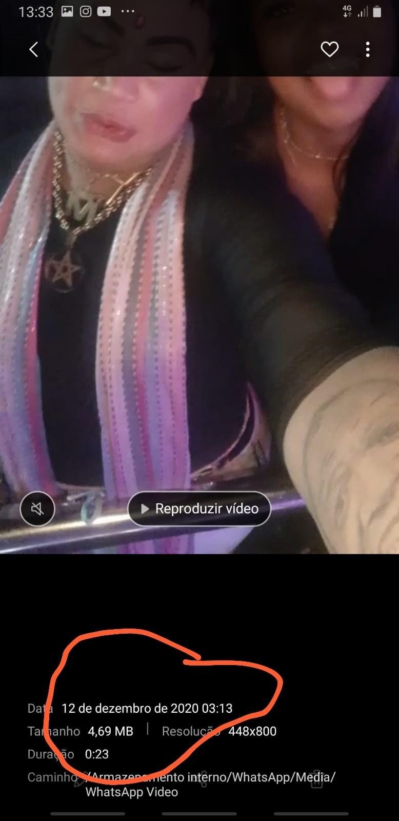 Print de vídeo do dia 12 de dezembro (Foto: Reprodução/Instagram)