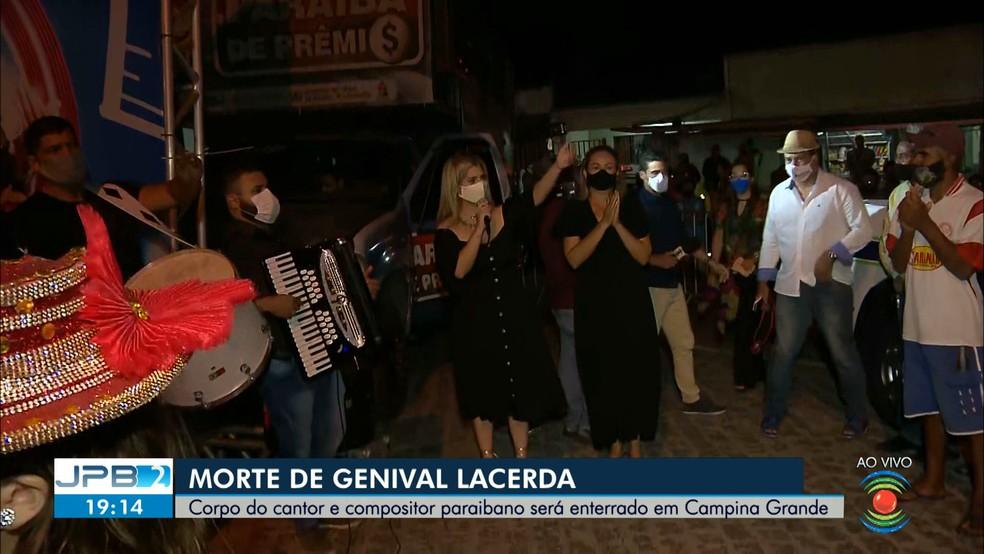 Genival Lacerda foi recebido com forró pé-de-serra — Foto: TV Paraíba/Divulgação