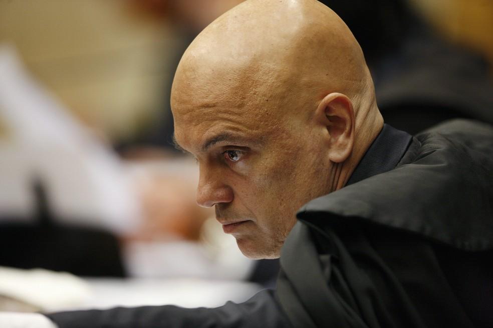 O relator do inquérito que investiga ofensas contra magistrados da Suprema Corte, ministro Alexandre de Moraes — Foto: Rosinei Coutinho/STF
