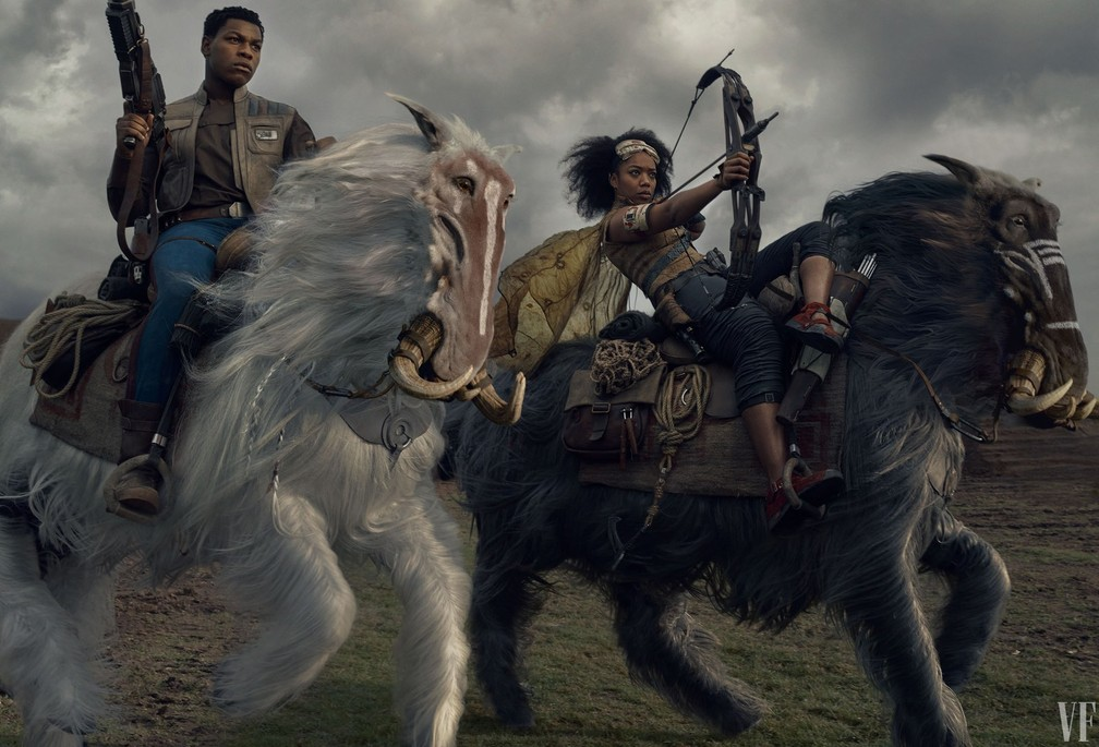 John Boyega e Naomi Ackie em foto da 'Vanity Fair' — Foto: Annie Leibovitz/Vanity Fair