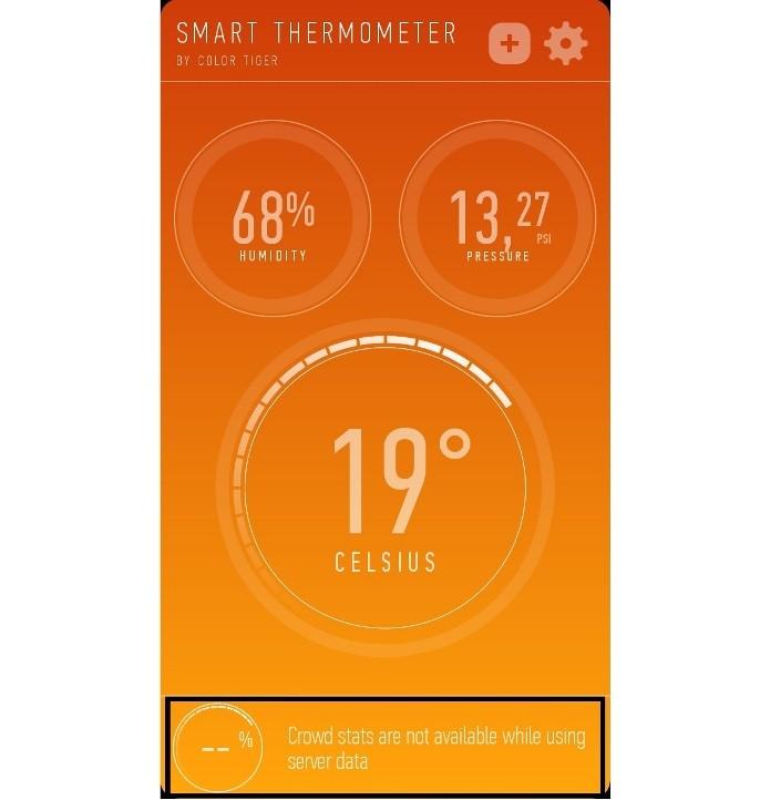 Atualizando a temperatura, a umidade relativa do ar e a pressão atmosférica do local (Foto: Reprodução/Lívia Dâmaso)