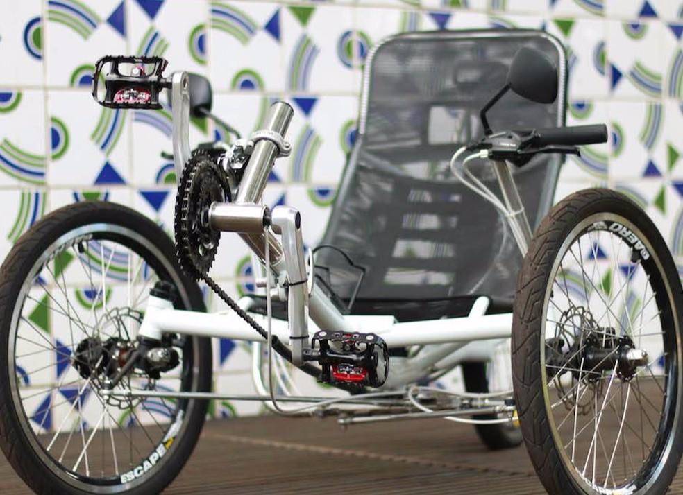 Triciclo desenvolvido pelos pesquisadores da Universidade de Brasília envolvidos no projeto EMA Trike — Foto: EMA Trike/Divulgação