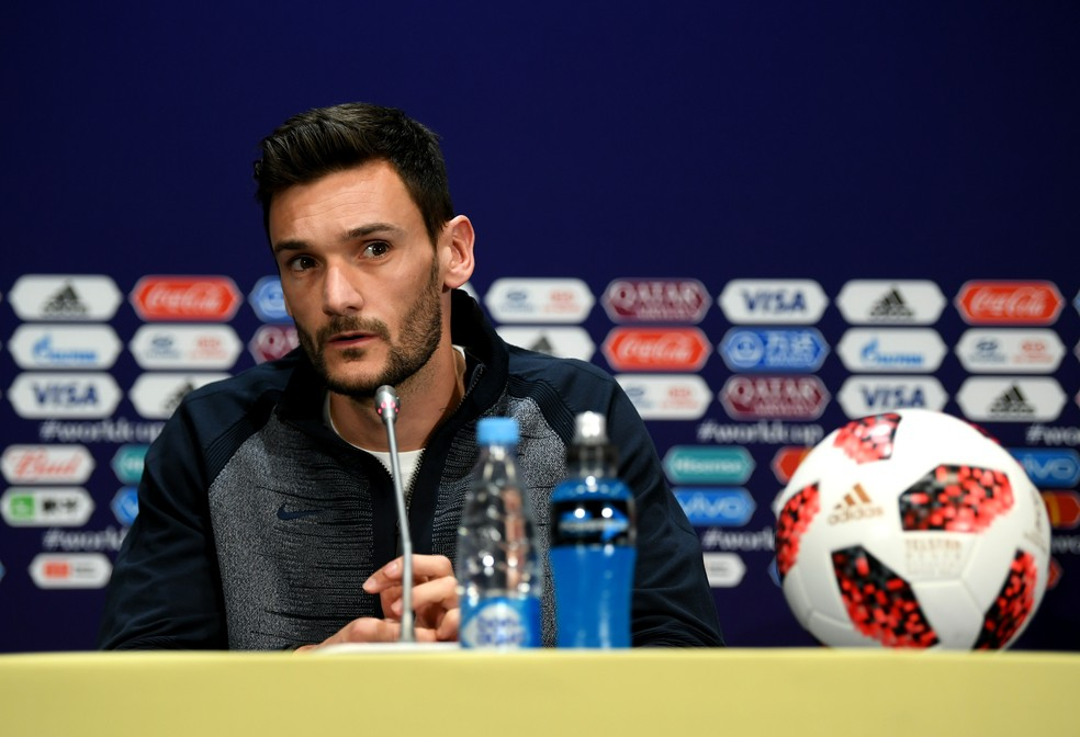 Lloris em entrevista coletiva antes da final (Foto: Shaun Botterill / GETTY IMAGES EUROPE)
