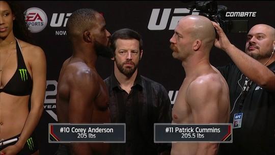 Corey Anderson e Patrick Cummins passam pela pesagem do UFC Atlantic City