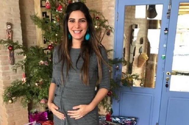 Andreia Sadi está grávida de dois meninos, Pedro e João (Foto: Reprodução)
