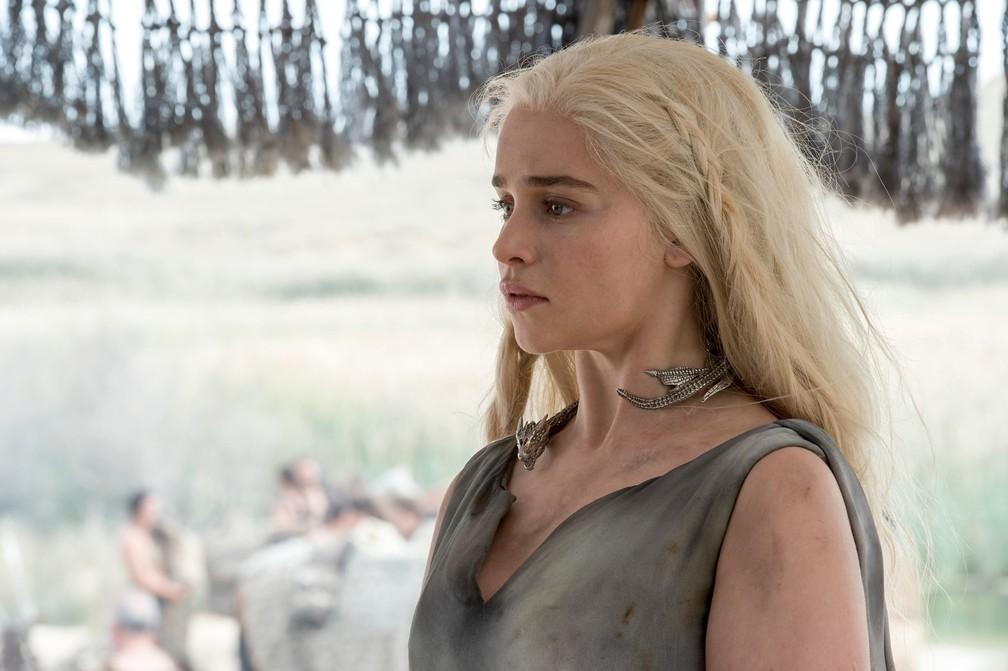 Emilia Clarke como Daenerys Targaryen — Foto: Macall B. Polay/HBO/Divulgação