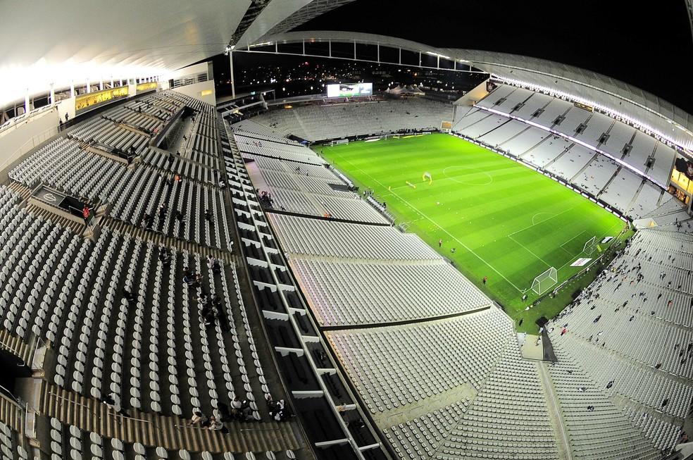 Arena Corinthians contou com financiamento público da Caixa Econômica Federal (Foto: Marcos Ribolli)