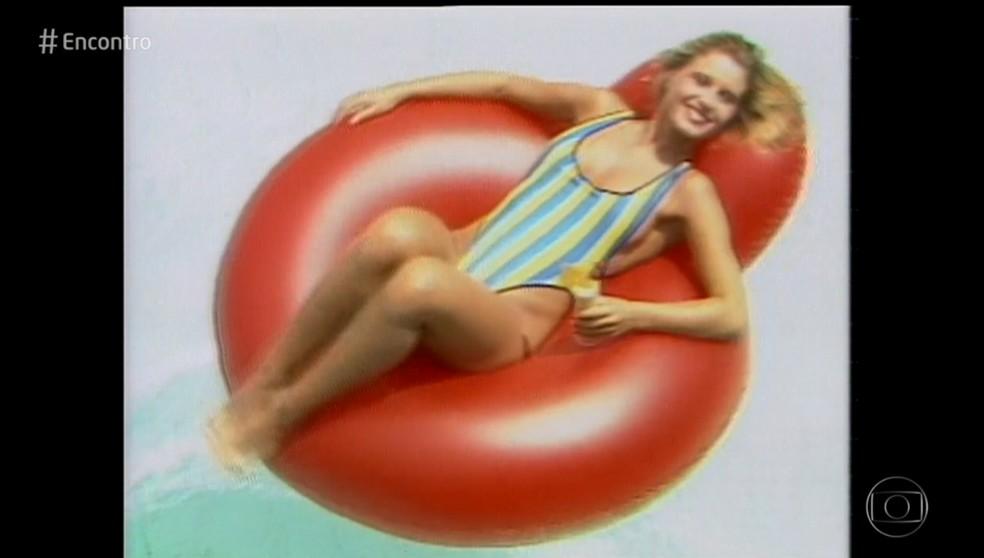 Paula Burlamaqui contou estava na praia quando foi convidada para participar de um concurso de beleza (Foto: TV Globo)