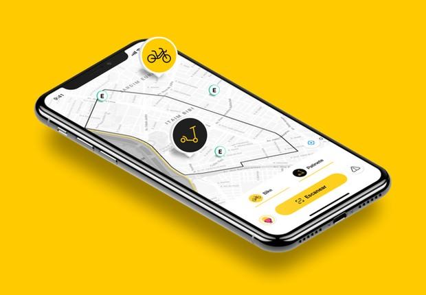 Startup de mobiliade Yellow disponibiliza patinetes elétricos em São Paulo (Foto: Divulgação/Yellow)
