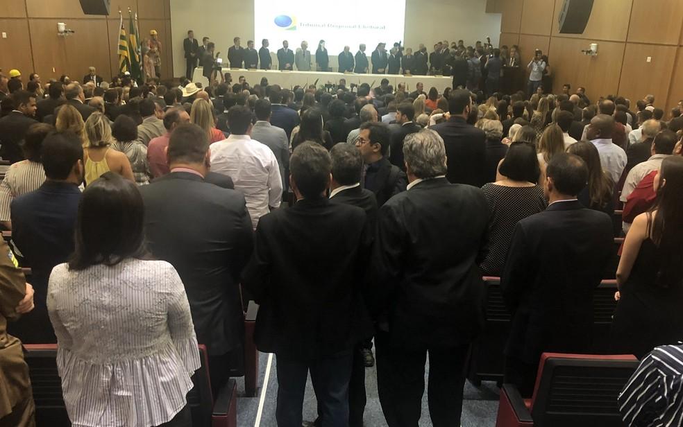Justiça Eleitoral diploma eleitos em outubro em Goiás — Foto: Paula Resende/ G1