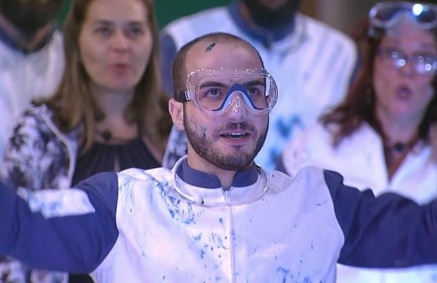 O sexólogo Mahmoud não se destacou em provas de resistência no 'BBB' 18, mas ganhou disputas pela liderança e pelo anjo (Foto: Reprodução)