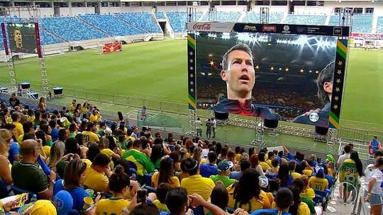 Torcida potiguar se reúne na Arena das Dunas para assistir a estreia do Brasil na Copa