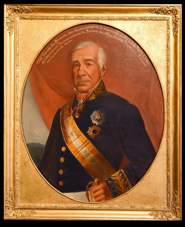 Retrato do Conde Joaquim Ferreira dos Santos, português que transportou mais de 10 mil escravos para o Brasil (Foto: Museu e Igreja da Misericórdia do Porto via BBC)