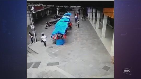 Morre motorista que atropelou pessoas em calçadão de Lages