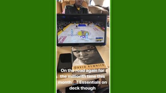 LeBron James testa o novo Los Angeles Lakers com a ajuda do videogame