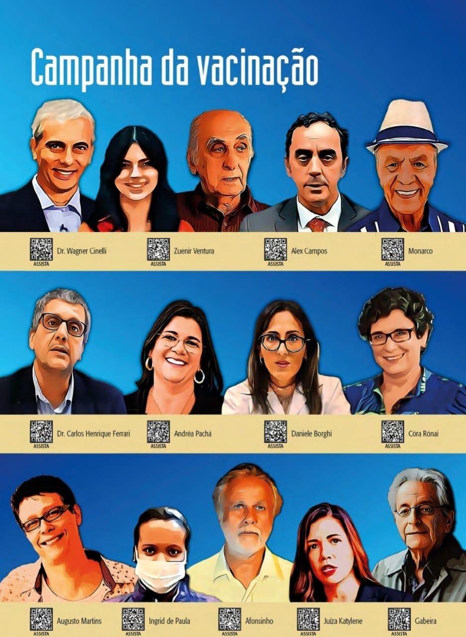 Personalidades que apoiam a campanha do Museu da Justiça do Rio