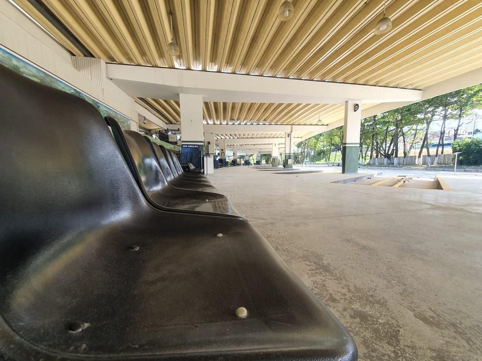 Rodoviária de Salvador vazia — Foto: Camila Marinho / TV Bahia