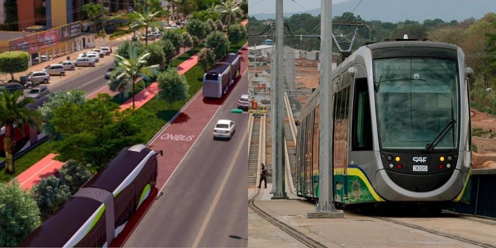 BRT x VLT — Foto: Governo de MT/Reprodução - Edson Rodrigues/Secopa