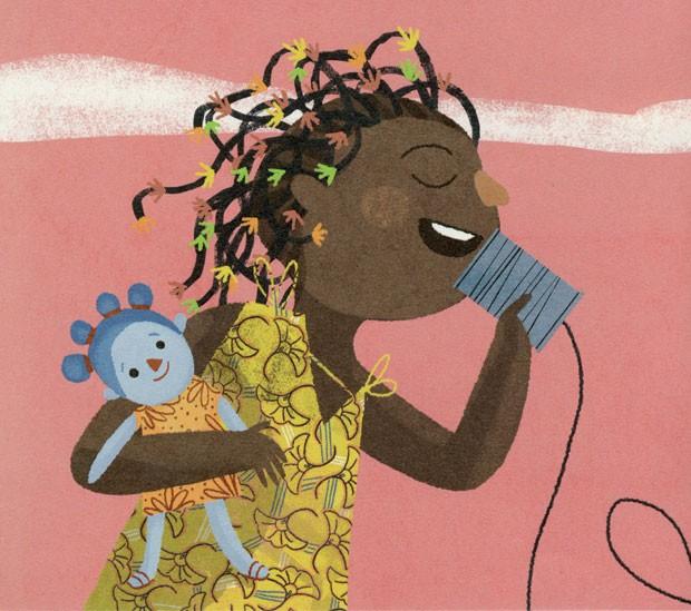 A Menina que Abraça o Vento, texto de Fernanda Paraguassu e ilustrações de Suryara Bernardi, Vooinho, R$ 32. A partir de 4 anos. (Foto: Reprodução)