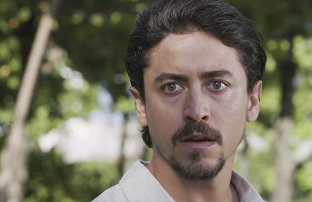 Na sexta-feira (28), Jerônimo (Jesuíta Barbosa) planejará prejudicar o irmão com a gravação de Nicole (Barbara França) (Foto: TV Globo)