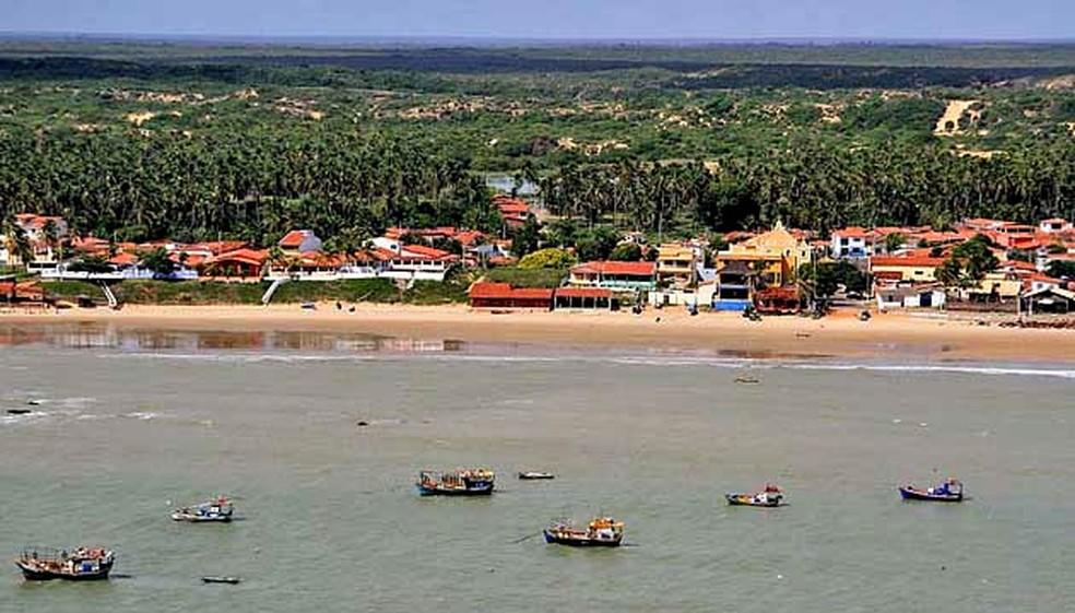 Praia de Touros, no litoral Norte potiguar — Foto: Canindé Soares
