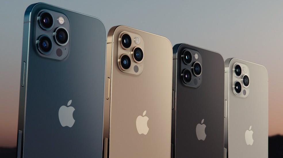 iPhone 12 Pro chegam em quatro cores — Foto: Reprodução/Apple