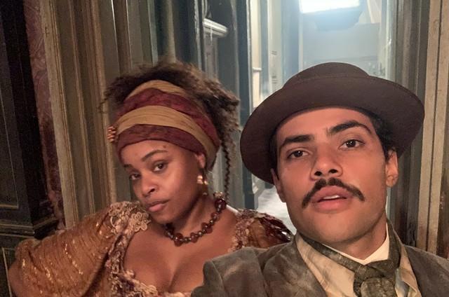 Roberta Rodrigues e Gabriel Fuentes em 'Nos tempos do Imperador' (Foto: Arquivo pessoal)