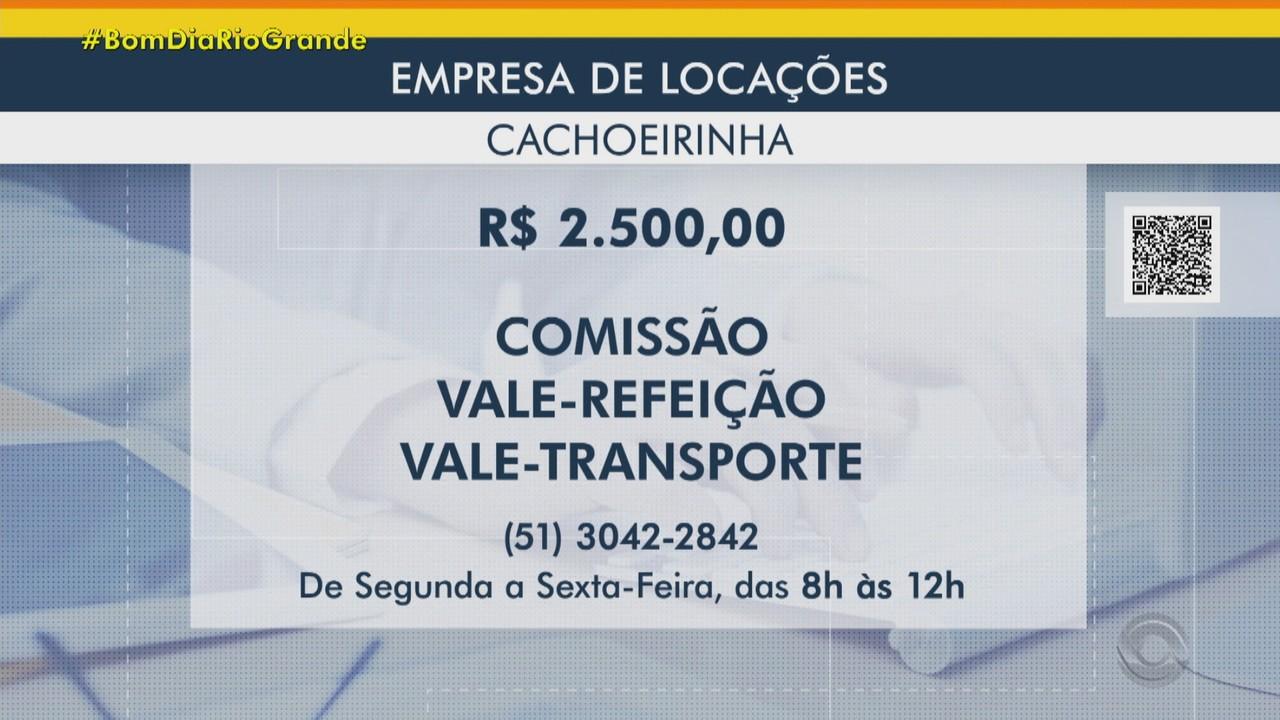 Empresa de locações oferece vaga de emprego em Cachoeirinha