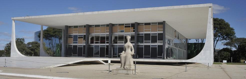 O prédio-sede do Supremo Tribunal Federal, em Brasília — Foto: José Cruz  / Agência Brasil