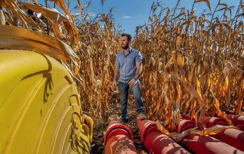Etanol valoriza o milho em MT - Marcos Aurélio, produtor em Nova Mutum (Foto: Rogerio Albuquerque)