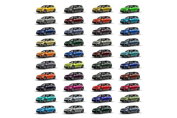 Volkswagen Golf R cores (Foto: divulgação)