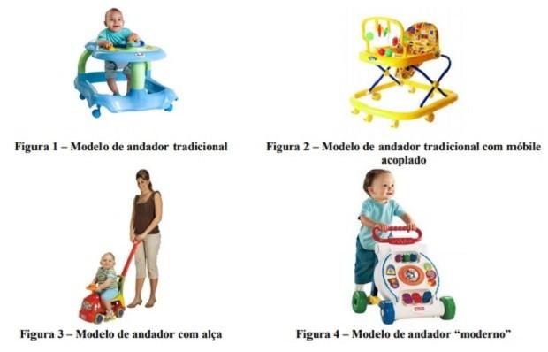 Classificação de andadores segundo o Inmetro (Foto: Divulgação)